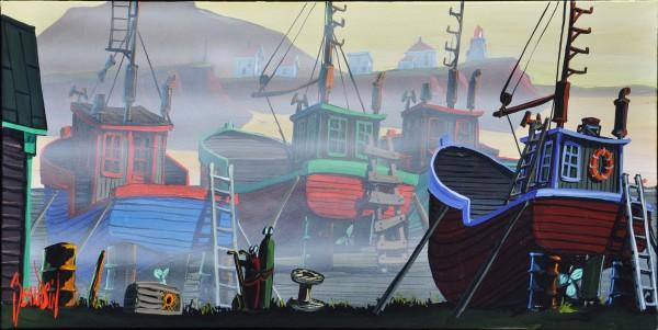 brume sur le quai