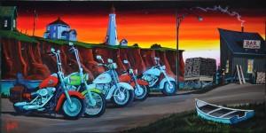 Harley row